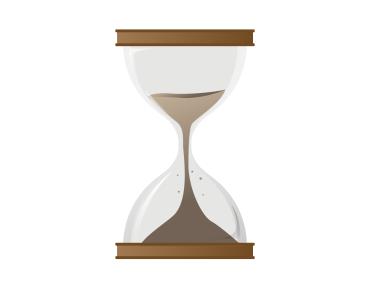 にんにくが体内から消えるまでの時間を表した砂時計
